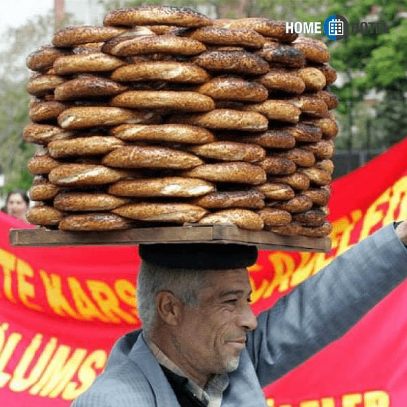 продавец симитов, продавец турецких булочек