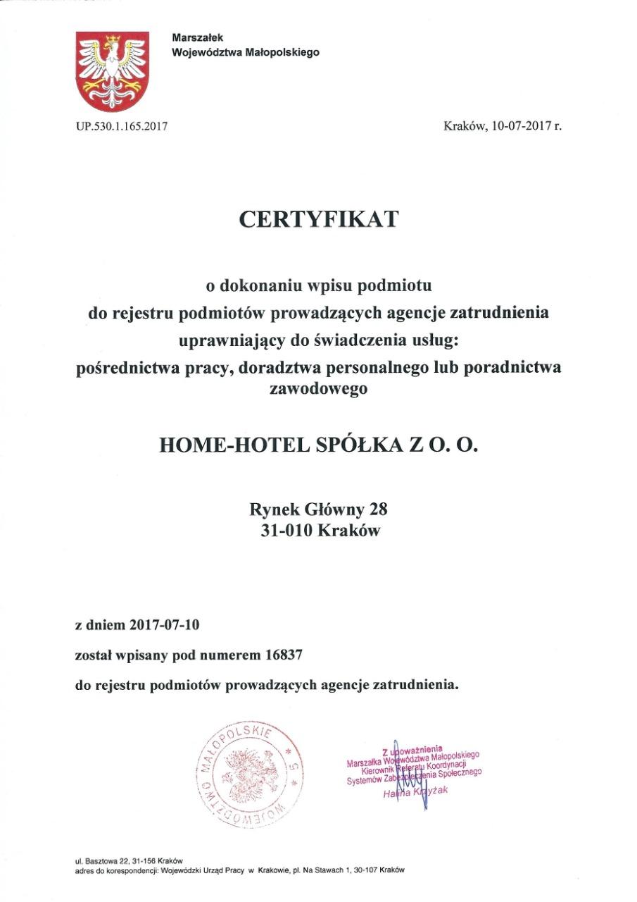 Легальное трудоустройство в Польшу, сертификат