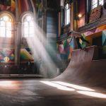 скейт парк в церкви